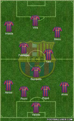 barcelona fc 2011 squad. arcelona fc 2011 team photo.