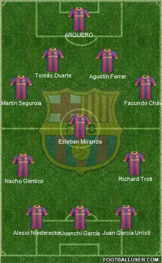 barcelona fc 2011 logo. arcelona fc 2011 team.