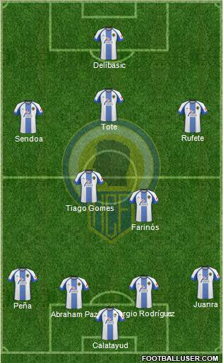 Hércules C.F., S.A.D. football formation