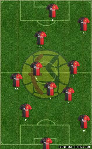 Eskisehirspor 4-4-2 football formation