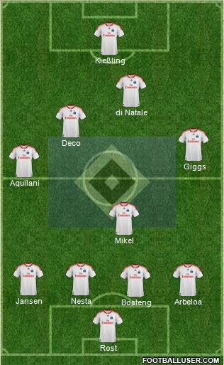 Hamburger SV football formation