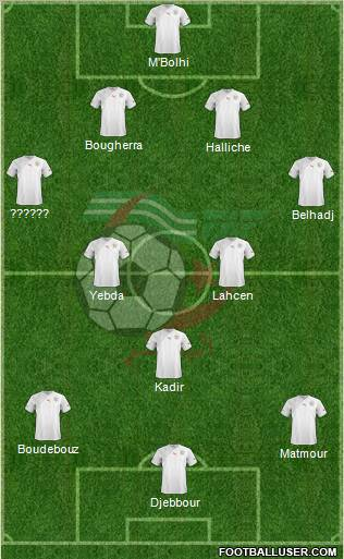 Algeria football formation