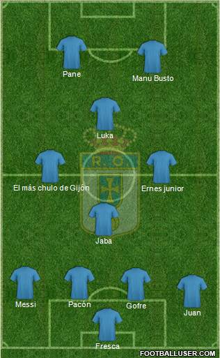 Real Oviedo S.A.D. football formation