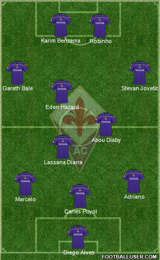 Fiorentina football formation
