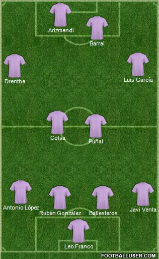 Europa League Team football formation