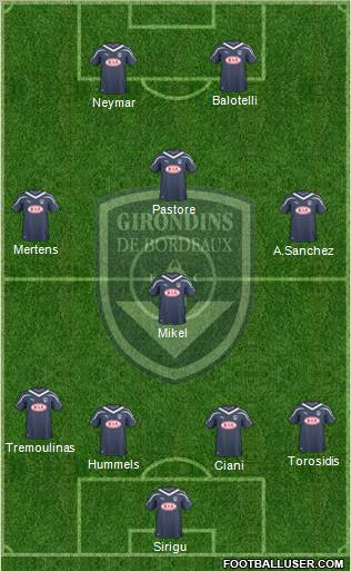 FC Girondins de Bordeaux football formation