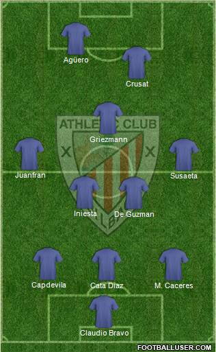 Athletic Club 3-5-2 football formation