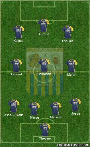 Athlétic Club Arles-Avignon football formation