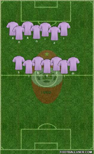 C Atlético Pompeya 4-1-3-2 football formation