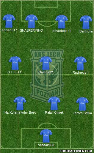 Lech Poznan football formation