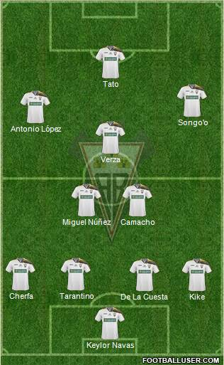 Albacete B., S.A.D. football formation