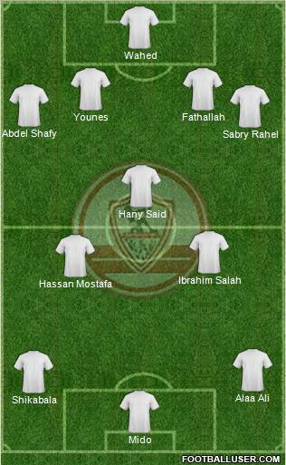 Zamalek Sporting Club football formation