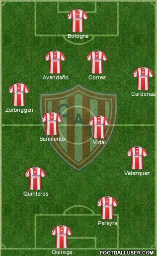 Unión de Santa Fe football formation
