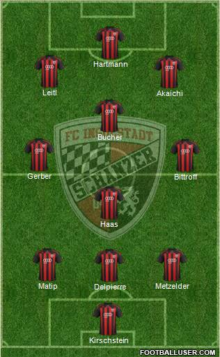 FC Ingolstadt 04 3-4-3 football formation
