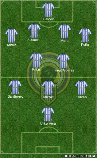 Hércules C.F., S.A.D. 4-2-3-1 football formation