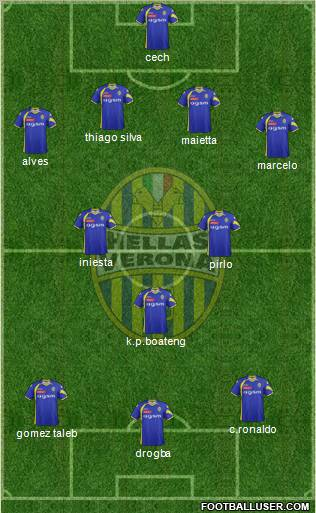 Hellas Verona 4-2-1-3 football formation