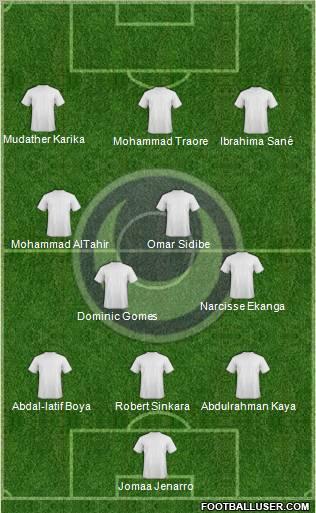 Al Hilal Omdurman Sudan Football Formation