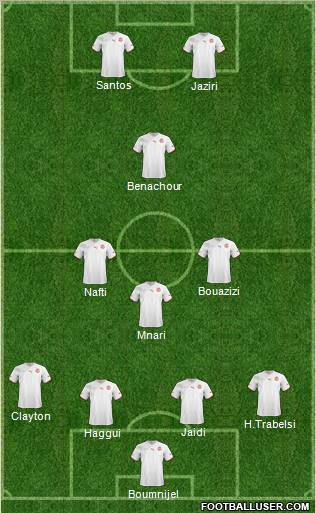Tunisia National Teams Football Formation