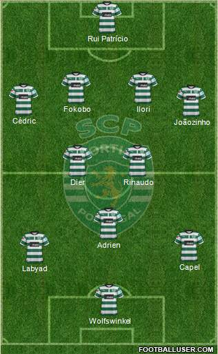 Sporting Clube de Portugal - SAD 4-3-2-1 football formation