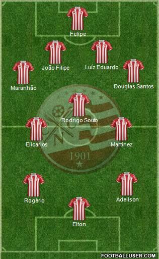 C Náutico Capibaribe 4-3-3 football formation