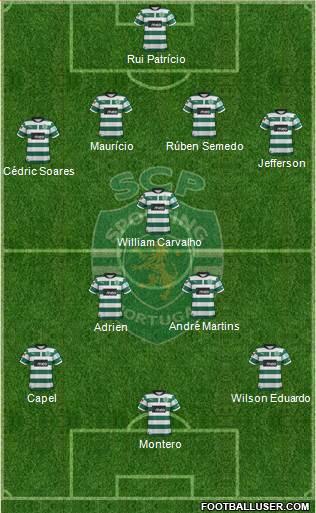 Sporting Clube de Portugal - SAD 4-3-1-2 football formation