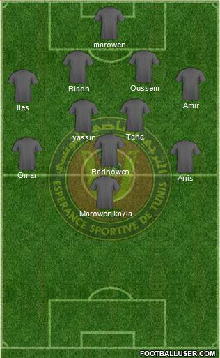 Esp Rance Sportive De Tunis Football Formation