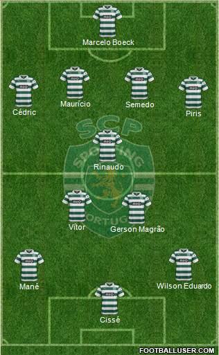 Sporting Clube de Portugal - SAD 4-4-1-1 football formation