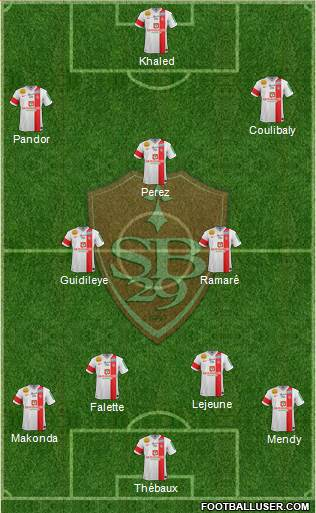 Stade Brestois 29 4-2-3-1 football formation