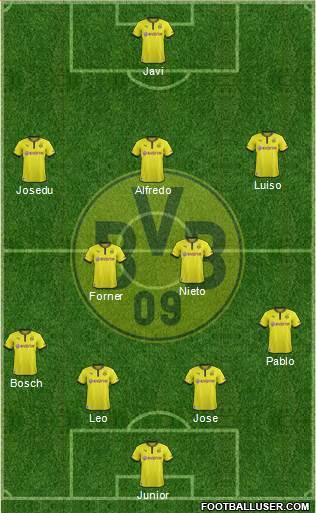 Borussia Dortmund Germany Football Formation