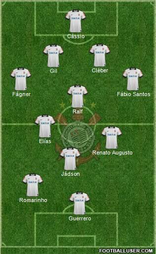 SC Corinthians Paulista 4-3-1-2 football formation