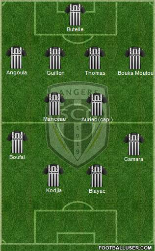 all angers sco france football formations