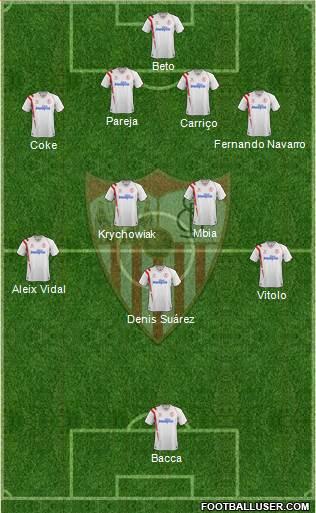 Sevilla F.C., S.A.D. 4-1-4-1 football formation