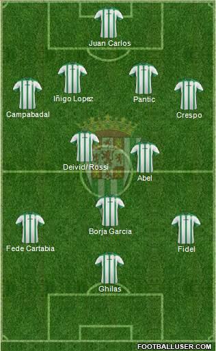 Córdoba C.F., S.A.D. football formation