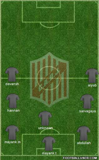 9 de Julio 4-4-2 football formation