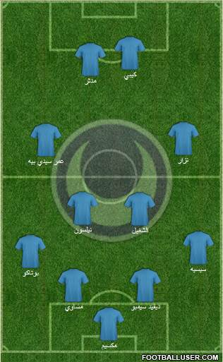 Al-Hilal Omdurman 4-4-2 football formation