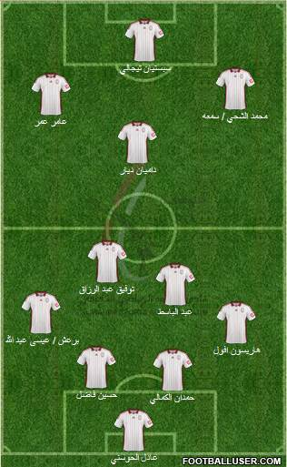 Al-Wahda (UAE) 4-3-2-1 football formation