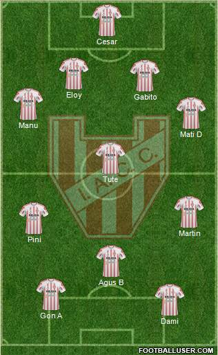 Instituto de Córdoba 4-3-1-2 football formation