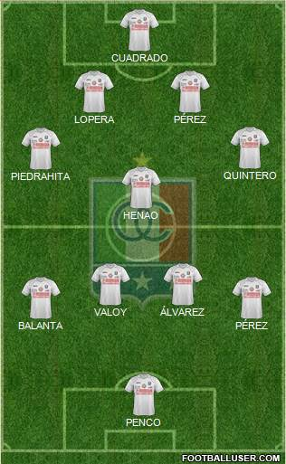 CD Once Caldas 4-1-4-1 football formation