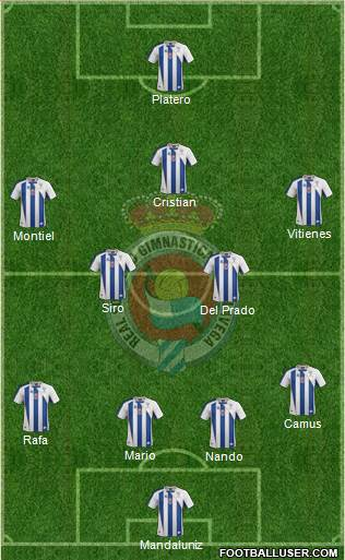 Gimnástica Torrelavega 4-4-1-1 football formation