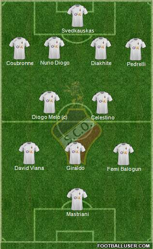 Sporting Clube Olhanense 4-2-3-1 football formation