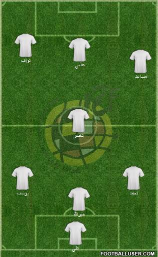 Spain 3-4-2-1 football formation