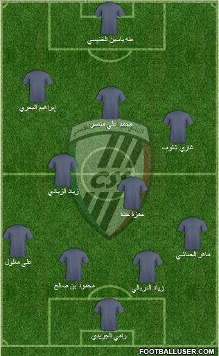 Club Sportif Sfaxien 4-5-1 football formation