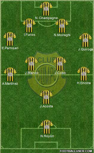 Olimpo de Bahía Blanca 5-4-1 football formation