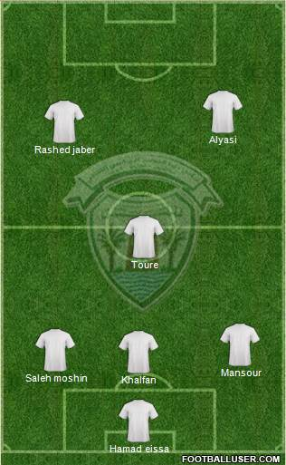 Dibba Al-Hisn 4-3-3 football formation