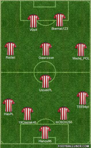 CD Chivas USA 4-4-1-1 football formation