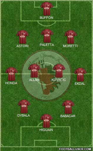 Foggia 3-4-3 football formation