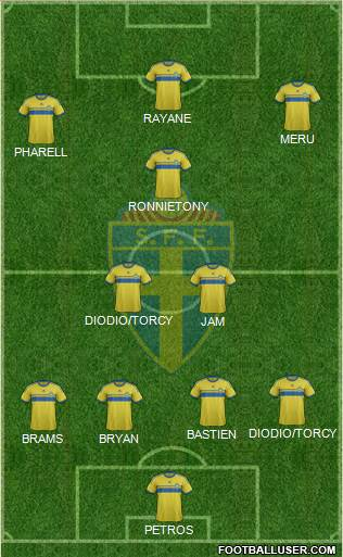 Sweden 4-2-2-2 football formation