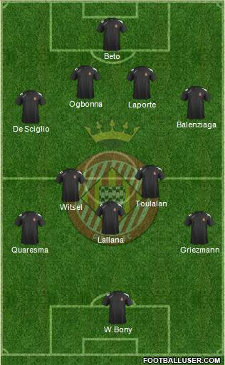 F.C. Girona 4-5-1 football formation