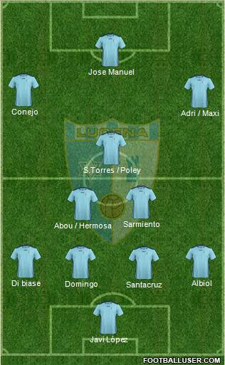Lucena C.F. 4-2-3-1 football formation