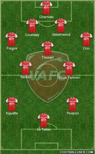 Valenciennes Football Club 4-3-3 football formation